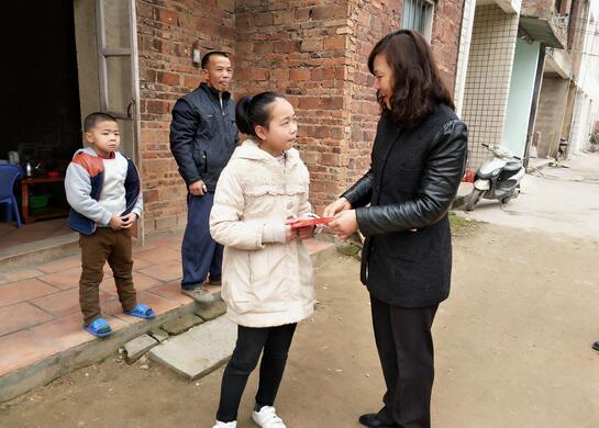 龙海市程溪农场关工委开展新春慰问贫困生活动
