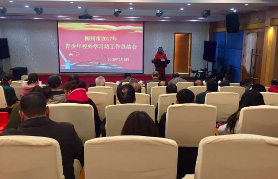 柳州市召开2107年青少年校外学习站工作总结会