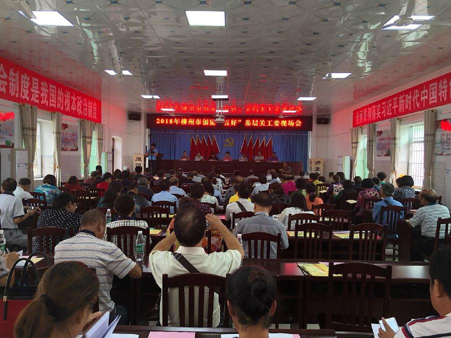 """柳州市创""""五好""""基层关工委现场会在柳江区召开"""