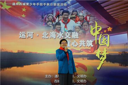 北京市通州区西城区关工委举办青少年手拉手主题活动