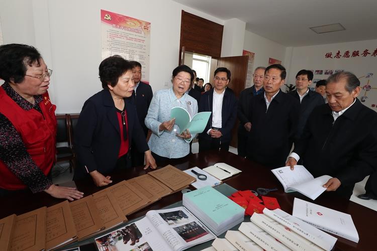 中国关工委顾秀莲主任在山东省考察关心下一代工作